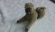 Poodle Dog Vintage Unusual large hollow cast with fur figure made england